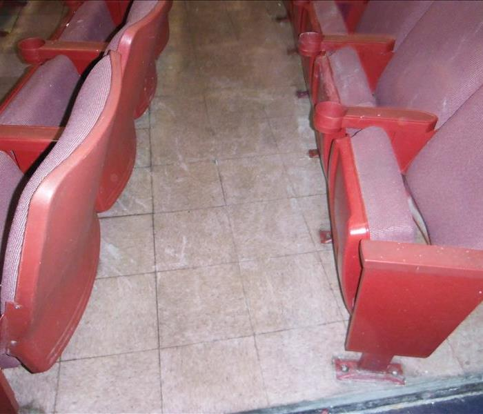 red seats in a movie theater