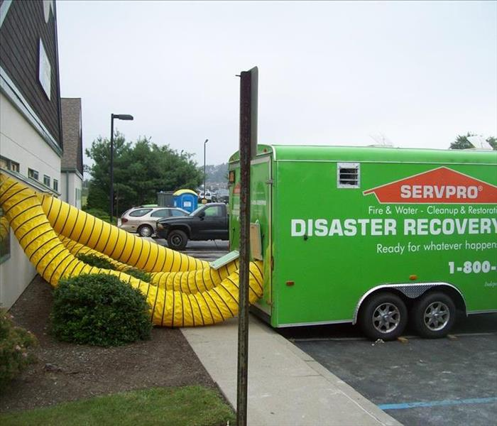 Commercial Drying Unit After Hurricane Irene